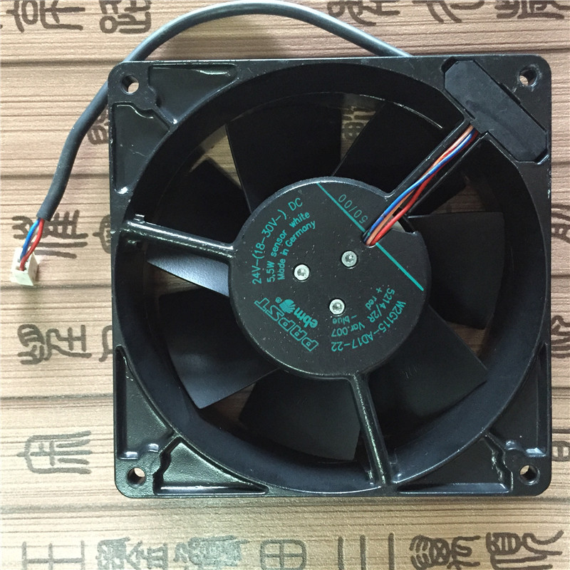 papst W2G115-AD17-22 DC 24V 5.5W 3-wire 127x127x38mm Server Square fan полуботинки the good dinosaur полуботинки