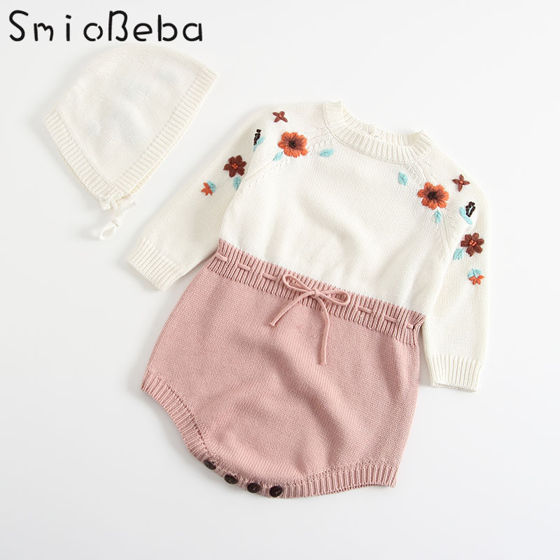 Baby Girls Clothes Expensive Embroidery by Hand Newborn Child Romper for Girls Knitted J ...