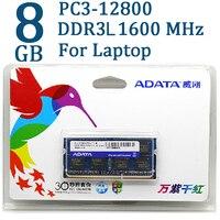 ADATA DDR3 DDR3L 2GB 4GB 8GB 1600MHz Ram Memory SO DIMM 204 Pin 1600 1333 For
