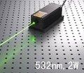 CW 2000 МВт 532nm зеленый лазерный диод модуль + выключатель питания (тип лаборатория) + TTL/Аналоговый/+ TEC