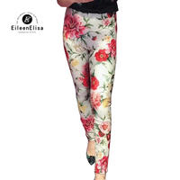 Floral Print Pants Woman Summer Pant 2018 Luxury Pencil Pants New Style Trousers Fashion