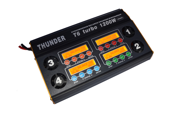 Thunder T6 Turbo 1200W RC Lipo battery balance charger 4X20A for agricultural UAV font b drone