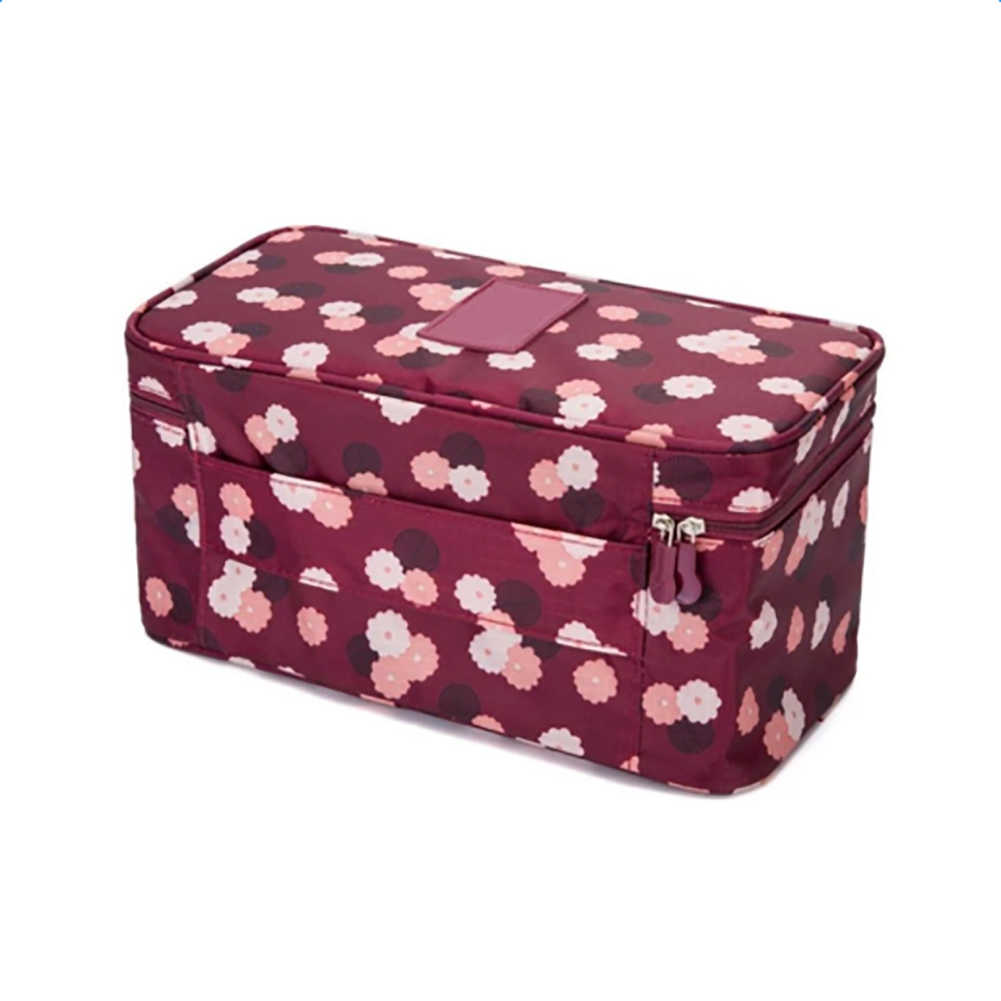 Pincel de maquiagem Saco De Armazenamento das mulheres Acessórios Underwear Bra Roupas Necessidade de Viagem Organizador de Maquiagem Cosmetic bag Bolsa Caso #2