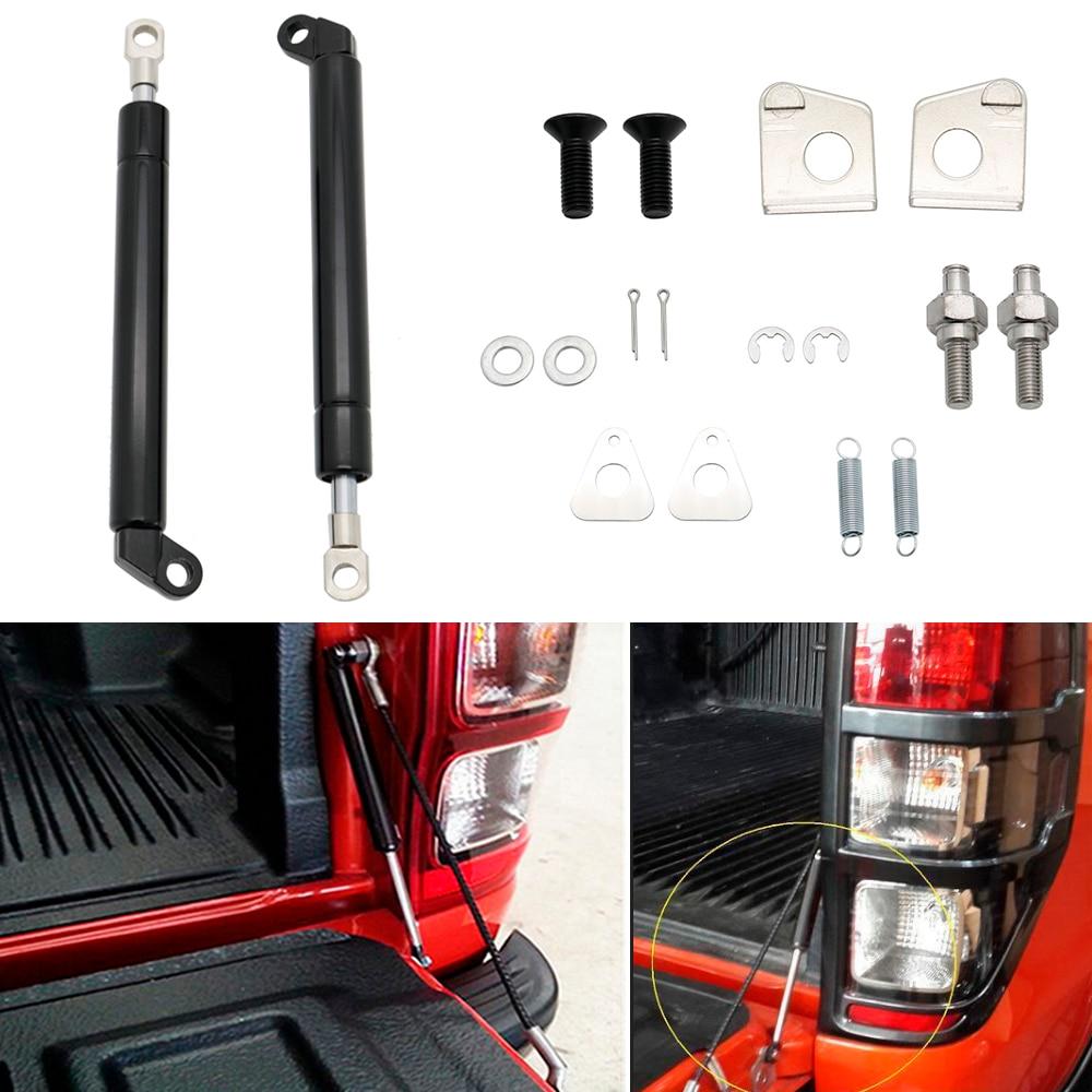 Haute qualité 1 paire de vérins à gaz en verre de fenêtre arrière Support hayon lent et facile Kit de jambe de force pour FORD RANGER T6 2012-2016