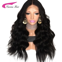 Carina Hair Peruvian Human Hair Body Wave 150 Density Lace Front Wigs With Baby Hair Around Cap Middle Part Pre-Plucked Hairline