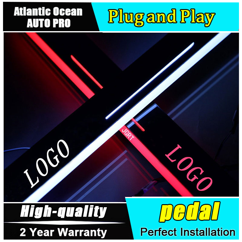 Car Styling LED Moving Door Scuff for VW Magotan LE Door Sill Plate Magotan DRL Character Pattern Automotive Accessories 2x cool led door sill led strip threshold scuff plate entry guard for volkswagen vw magotan 2012 2015