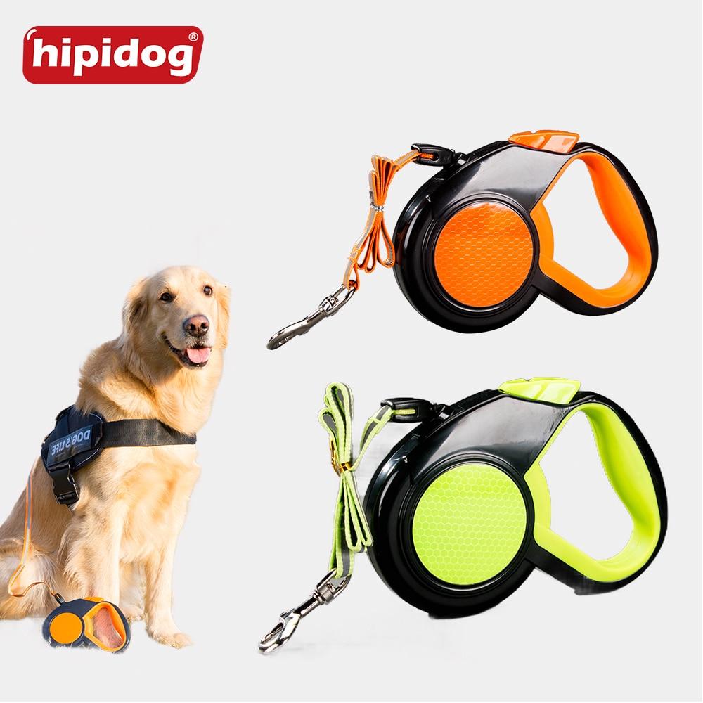 Hipidog 3M 5M Correa retráctil reflectante para perros Extender - Productos animales