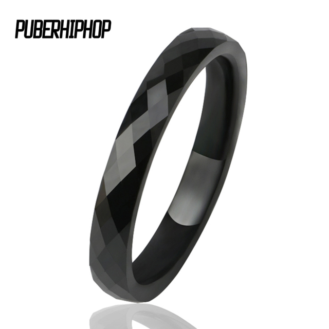 3 MM Light Black White Ceramic Rings Male For Women Men Smooth Cut Surface Ceram