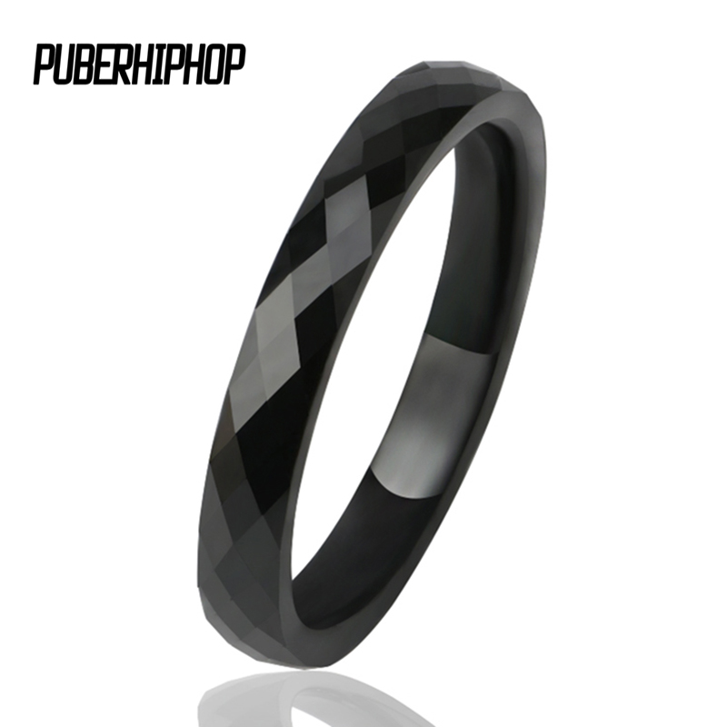 3 MM Light  Black White Ceramic Rings for Women Men Smooth Cut Surface Ceramic Jewelry Ring Fashion Jewelry Women Ring Wholesale