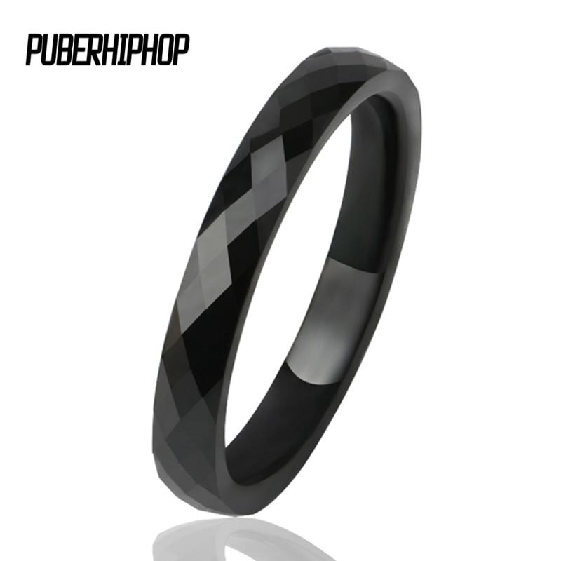 3 MM Light Black White Ceramic Rings fors