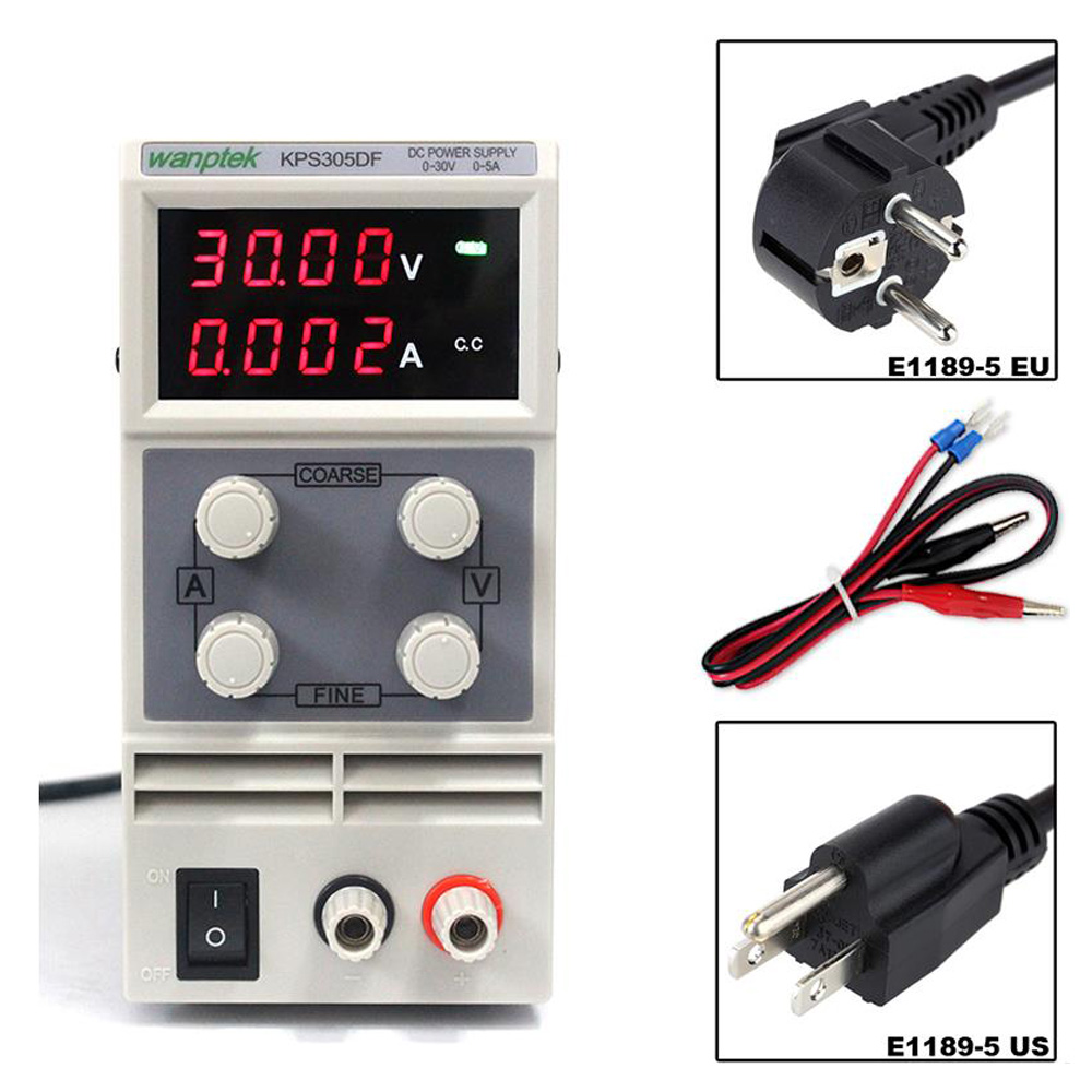 30V 5A DC Regulated Power High Precision Adjustable Supply Switch Power Supply Maintenance Protection Function KPS305DF