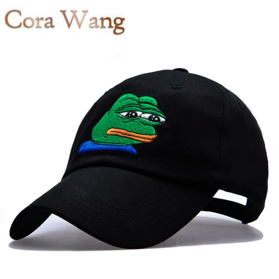 Sad Kermit  Brand New!  Ex Machina Bay Women Baseball Cap  Strapback snapback palace gorras Dad hat for MenTravis Scotts  cap 2016 new new embroidered hold onto your friends casquette polos baseball cap strapback black white pink for men women cap