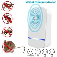 AC 90V-250V UK/US/AU/EU Plug Ultrasonic Cockroaches Pest Repeller Wide Coverage Area Heat Dissipation Pest Control Device TB