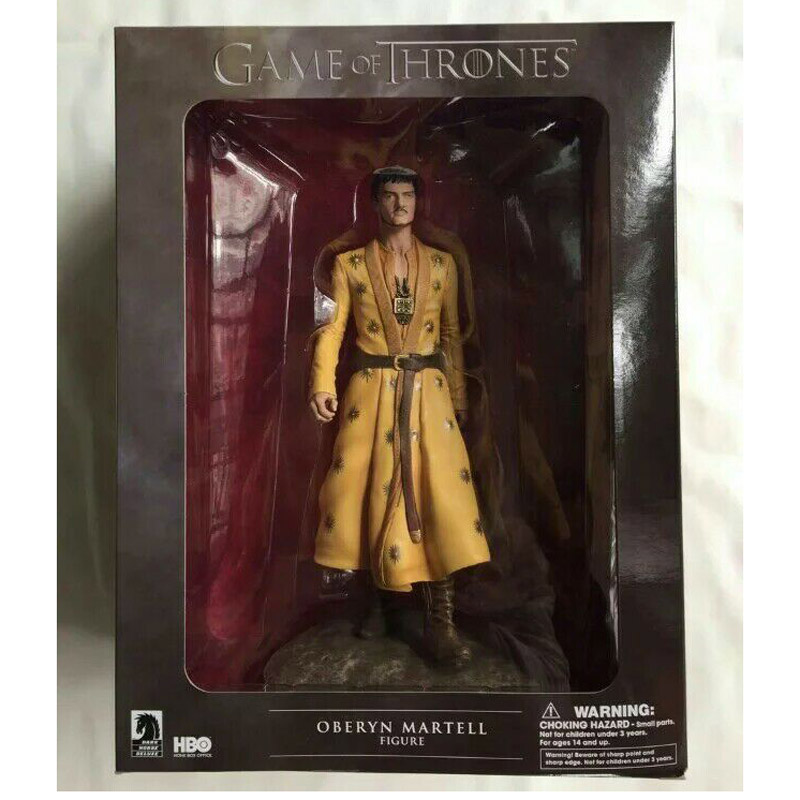 7 Game of Thrones PVC Action Figure set Grey Worm Oberyn Martell with weapon base Toy