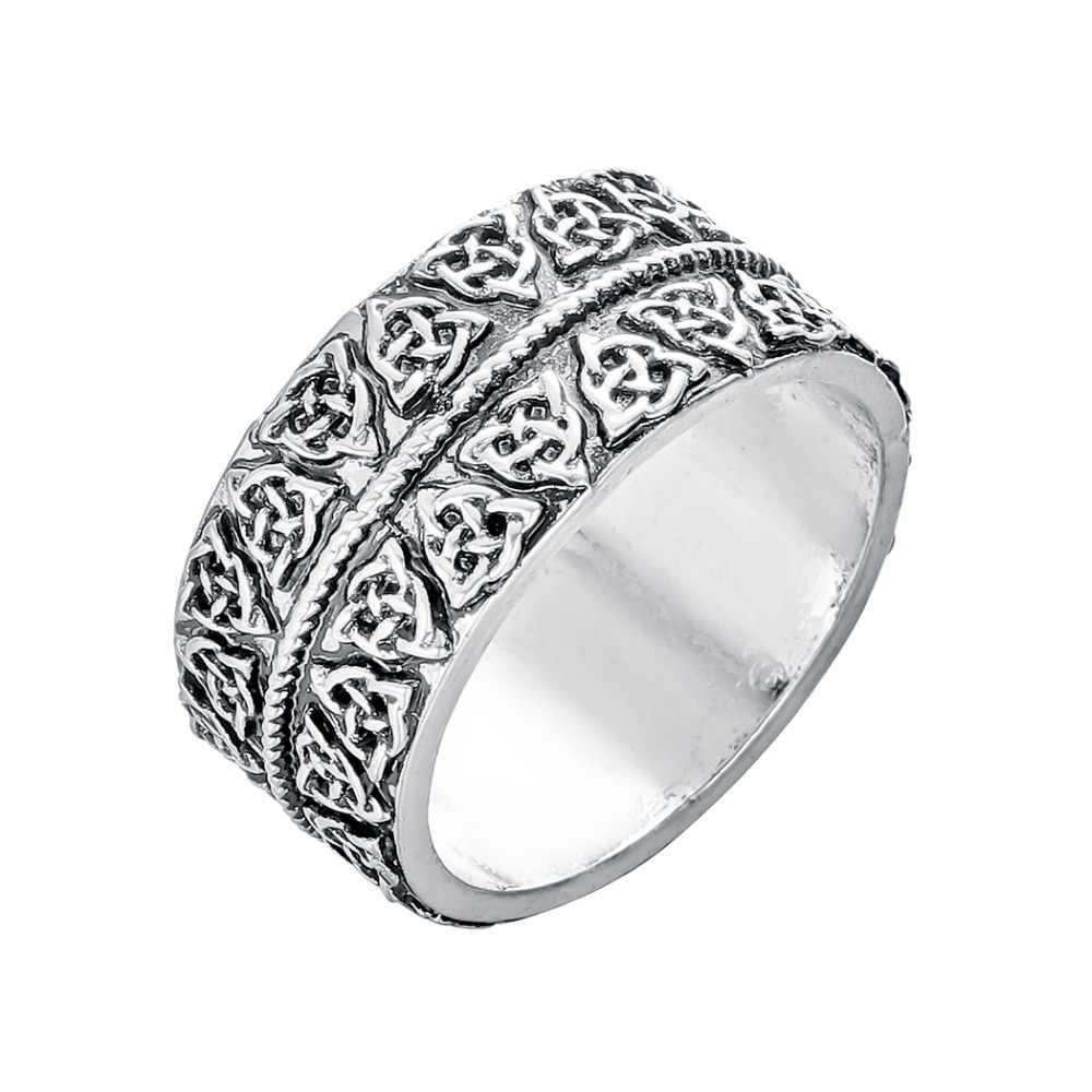 CHENGXUN หลาย Punk Statement แหวนชายหญิง Handmade Slavic ไวกิ้ง Vintage เครื่องประดับชายแหวนวันเกิดของขวัญแฟน