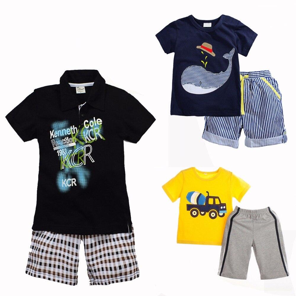 New 2017 kids boy summer set cotton shorts t shirt for Boys pants and shirts