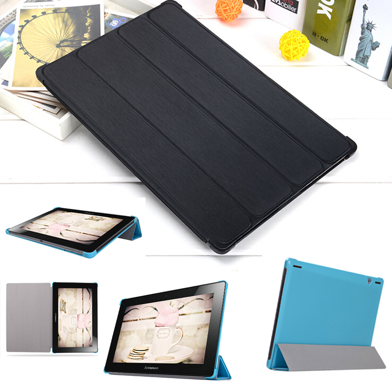 HOT! high quality fashion Slim protective Cover Case For Lenovo S6000 10.1 PU Leather case + Stylus + protective film 1pc high quality pu leather russian driver s license cover for car driving documents the cover of the passport bih002 pr49