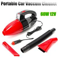Red 60W 12V Car Power Portable Vacuum Cleaner Wet Dry Dual Use Super Suction Red Light