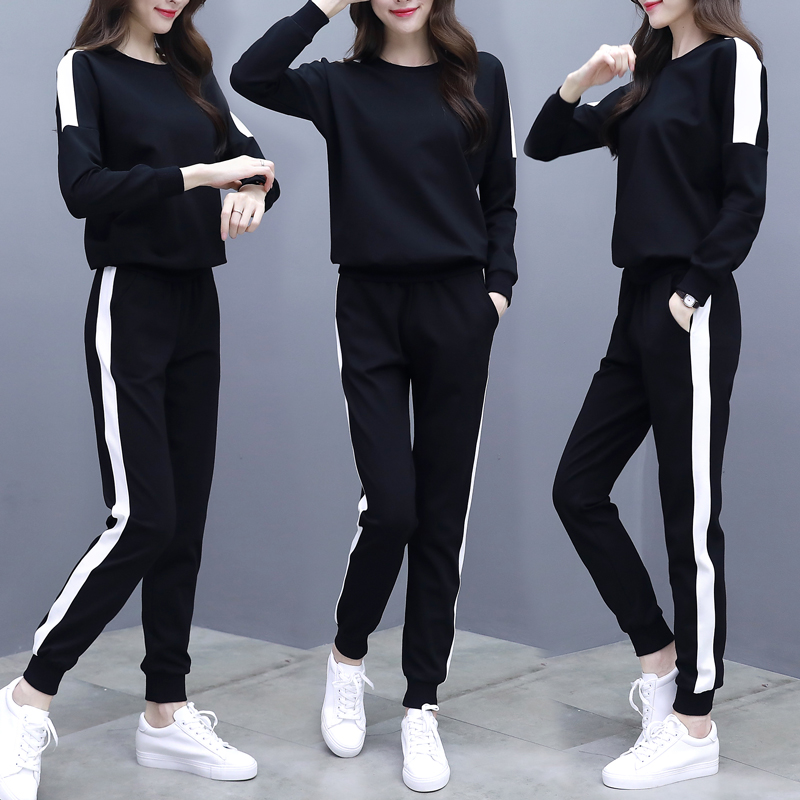 2019 Spring 2 Piece Sets Womens Outfits Women Matching Tracksuit  Victoria Secret White Sweatsuit Clothes Top And Pants Set