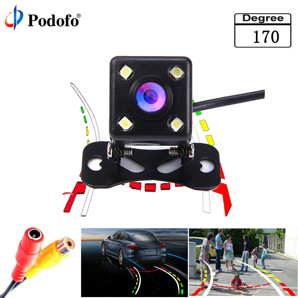Podofo Intelligent Dynamic Trajectory Tracks Rear View Camera HD CCD Reverse Backup Camera Auto Reversing Parking Assistance dynamic trajectory tracking auto backup parking reverse camera rearview rear view reversing parking camera for ford focus 2012
