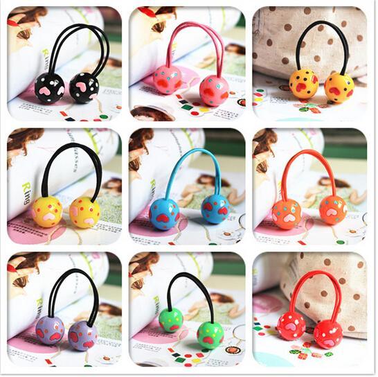 Nya stylingsverktyg Love Ball elastiska hårband, huvudbonader hårtillbehör för kvinnor för barnflickor gör dig till mode