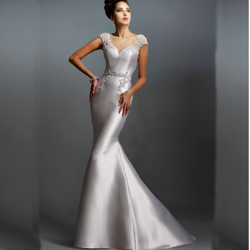 Online Buy Wholesale silver evening gowns from China silver ...