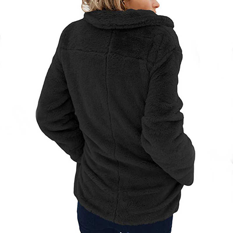 Abrigo de piel sintética elegante rosa para mujer, ropa de calle otoño invierno cálido abrigo de peluche femenino de talla grande, abrigo de piel para fiesta