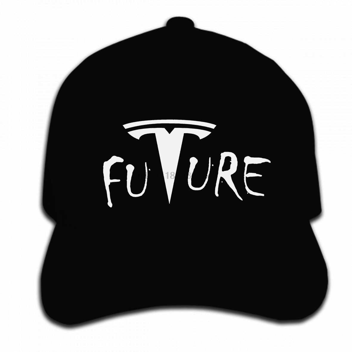 58696d87 Print Custom Baseball Cap Hip Hop Tesla motors is Future Cars Elon Musk  ized Hat Peaked