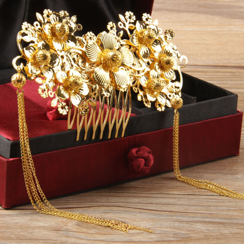 2 Styles Chinese Traditional Wedding Jewelry Bridal Tiara