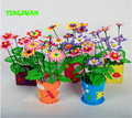 HAPPYXUAN 5pcs/lot Handmade EVA Flower pot Toy Children DIY Craft Kits Educational Toys for girls 3-6years
