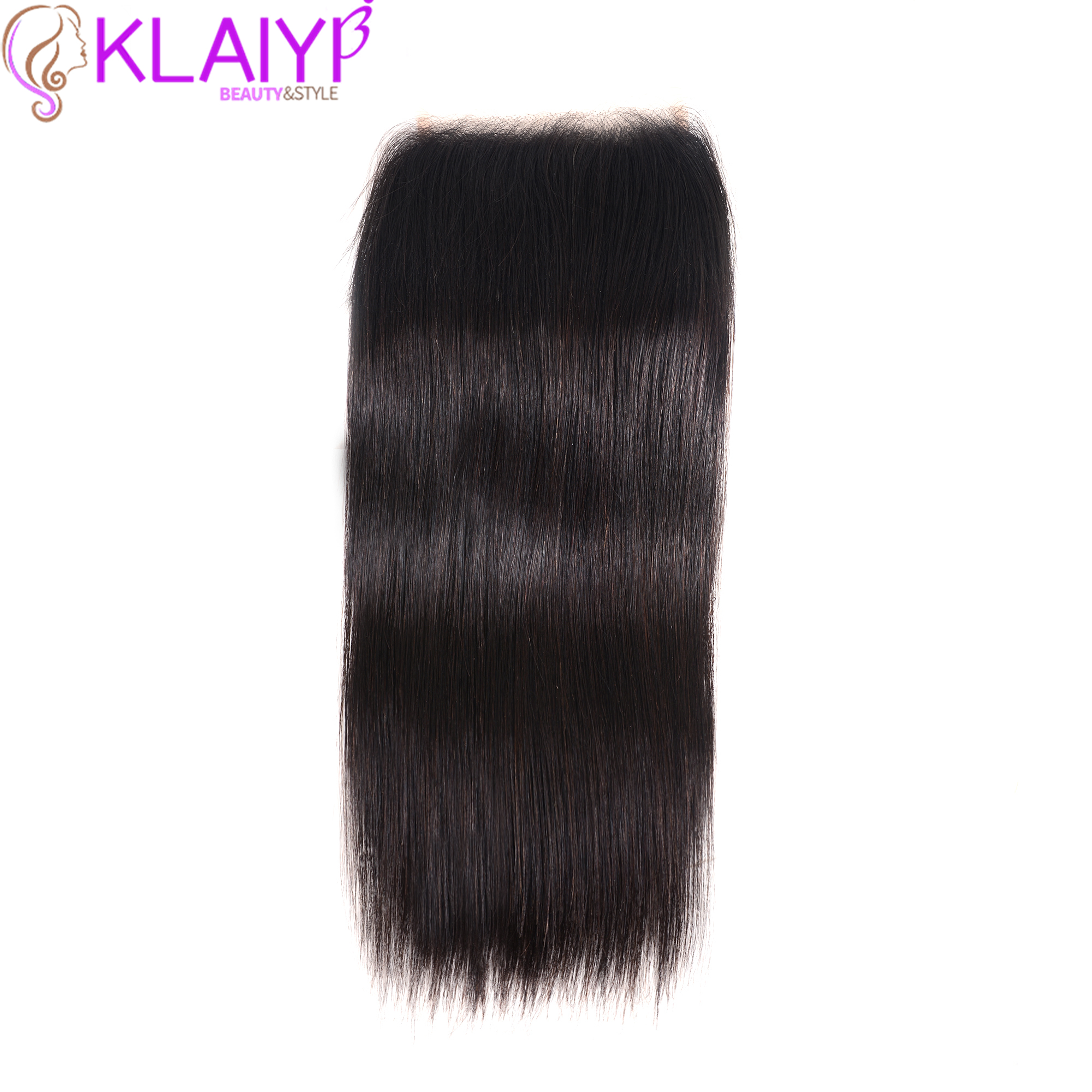 KLAIYI Hair Transparent Lace Closure 5*5 Straight Closure 8-18inch Lace Closure Brazilian Remy Hair Swiss Lace Natural Color(China)
