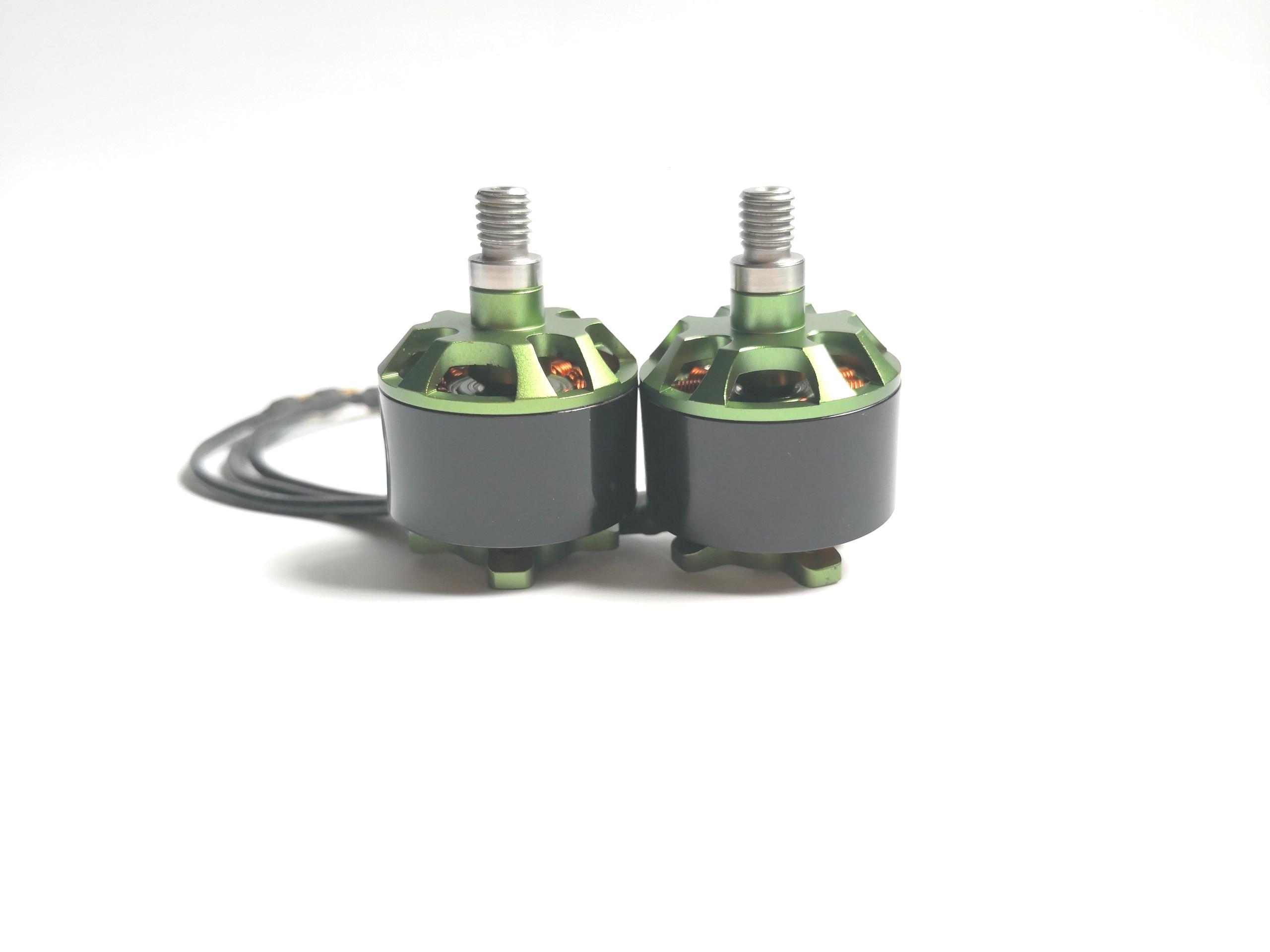 4 piezas 2312 motor sin escobillas 980KV 2312 motor CW CCW 3 S para FPV Drone Quadcopter negro/verde