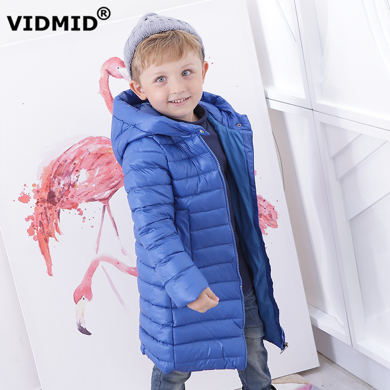 VIDMID boys down coats winter thick boys jackets children's down jackets outerwear overcoat long hooded clothes  2219 07