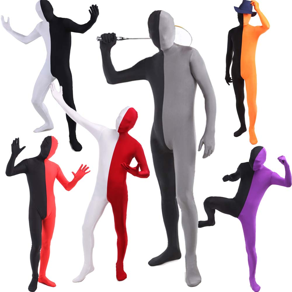 Unisex Second Skin Suit Halloween Costume Full Body Lycra Funny Stag Fancy Dress