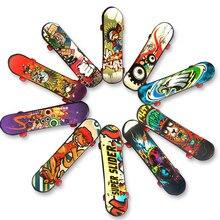 10 шт./компл. Творческий граффити Finger скейтборд мини Пластик гриф анти-стресс рукой запястье палец упражнения игрушки ребенок подарок