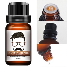 100% Natural Moisturizing Men Beard Oil for Styling Beeswax Smoothing Gentlemen Beard Care Conditioner 10ml