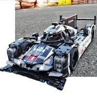 1586 PCS Legoing buliding block RC car 919 sports car Technic legoed dragon Super Racing Car Electric power function for kids