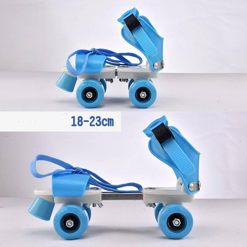 18-32CM Adjustable Children Roller Skates 2 Colors Double Row 4 Wheels Skating Shoes Kids Two Line Toy Skates Kids Boys Girls