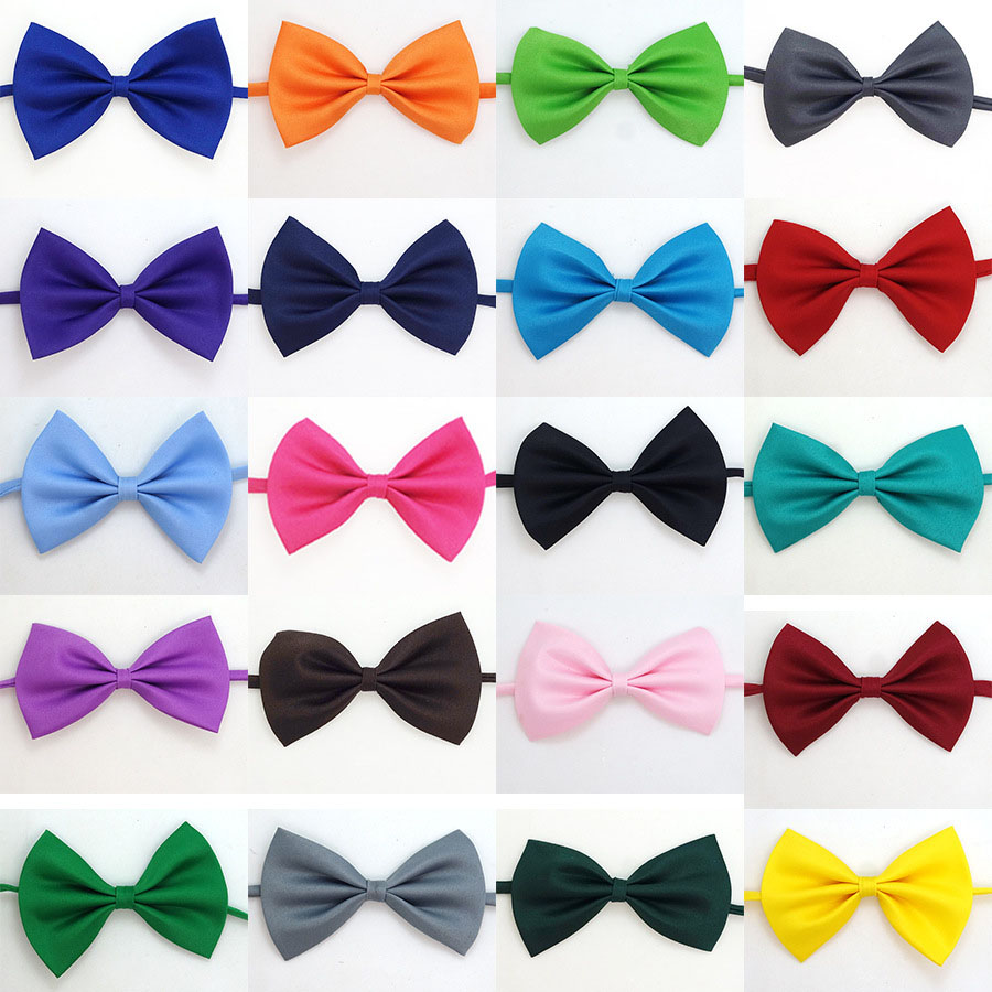ebb780213793 New hot sale party wedding Boys Bowtie Neck tie Cheep Solid Bow tie Children  Butterfly Ties