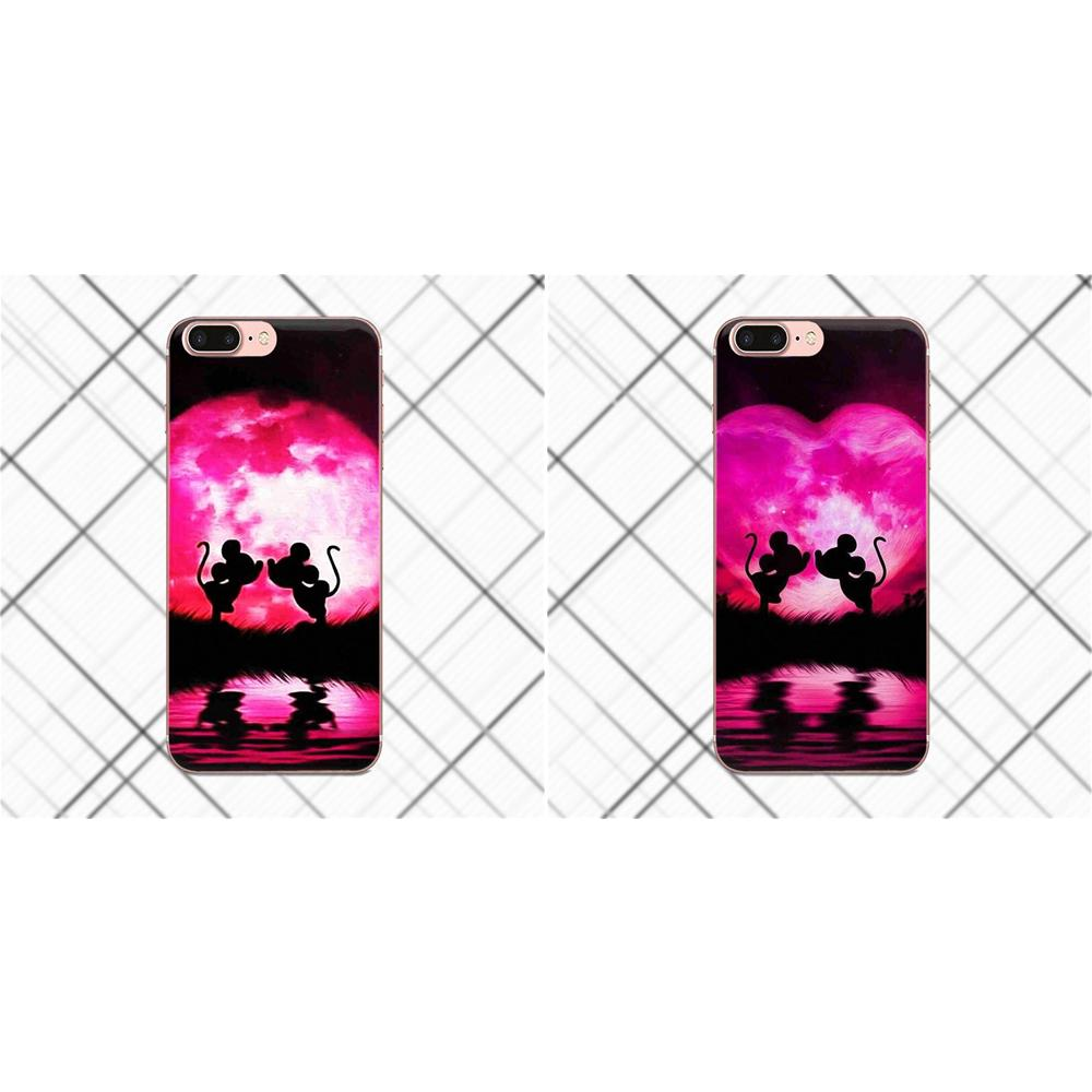 For Xiaomi Mi6 Mi 6 A1 Max Mix 2 5X 6X Redmi Note 5 5A 4X 4A A4 4 3 Plus Pro Cell Case Lovely Lovers Mickey Minnie Mouse Kiss