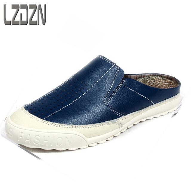 d68f14f62ec9c Korean Air personality lazy half shoes men's shoes men sandals men slippers  backless shoes Baotou summer skin drag