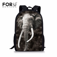 FORUDESIGNS Cool Animal Elephant Printed School Bags For Children Boys Girls Mochilas Travel Laptop Teenager Book