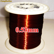 ChengHaoRan 0.53mm 1m QZY-2-180 Polyester-imide High temperature resistant enameled Copper Wire 1 meter qzy 2 180 magnet wire 1 0mm enameled copper wire magnetic coil winding item specifics high temperature copper wire 60m