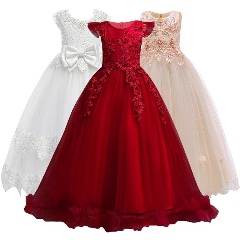 4-14Y de adolescentes niños niñas boda elegante vestido de la princesa fiesta desfile de Navidad Formal sin mangas vestido de ropa