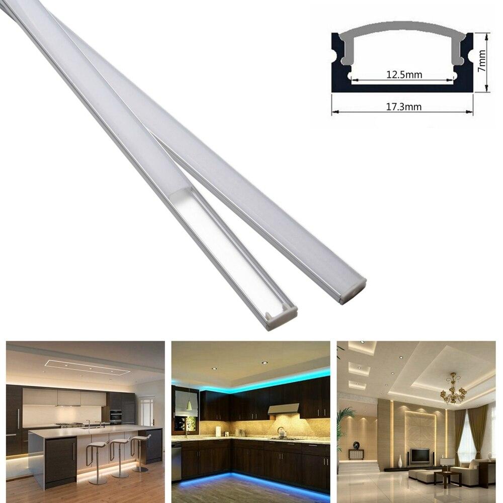 10set 3 3ft 1m set U Shape LED Strip Aluminum Channel Profile for 8mm 10mm 12mm