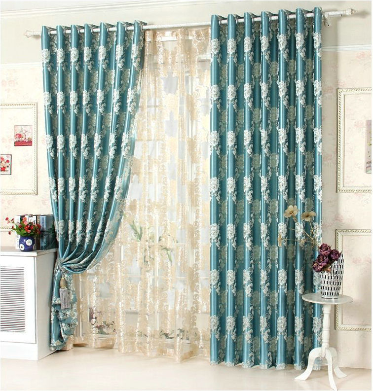Online Buy Wholesale Light Blue Patterned Curtains From China