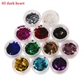 12 Color Circle Beads Nail Art Tips Rhinestones Glitters Acrylic UV Gel Gems Decoration with Hard Case
