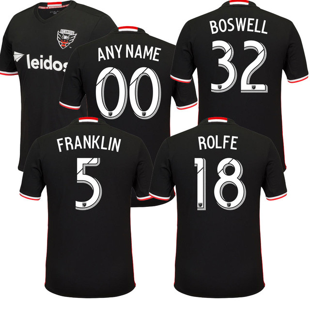 Best Thailand Quality 2016 2017 Washington Dcunited Soccer Jersey Home Away Franklin Boswell D C