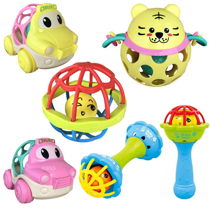 Baby Rattles Toys 0-12 Newborns Early Educational Infant Safe Hand Bell Hammer Toys Gifts