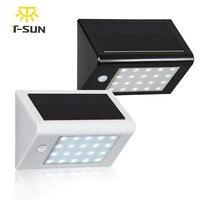 T-SUNRISE 20 LED Outdoor Lighting Solar Powered Lamp Light Outdoor Wall Lamp Waterproof Solar Motion Sensor Garden Light 350LM